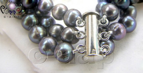 fermoir collier perles