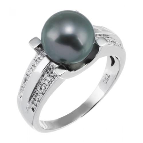 bague perle tahiti noire